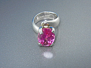 Charles Albert Pink Topaz Sterling Silver Ring