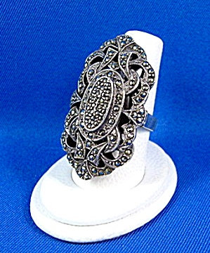 Sterling Silver Marquisite Ring Antique (Image1)