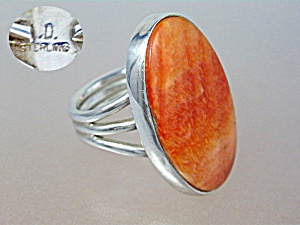 Sterling Silver Spiny Oyster Ring Signed D (Image1)