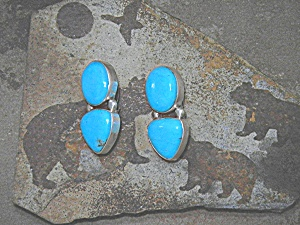 David Troutman & Gundi Sterling Silver Turquoise Clip  (Image1)