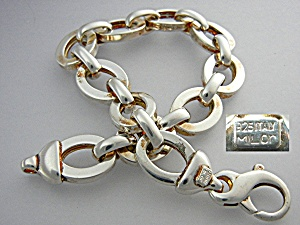 Bracelet Sterling Silver Links MILOR Italy (Image1)