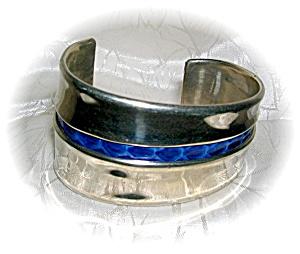 Sterling Silver Snakeskin Cuff Bracelet (Image1)