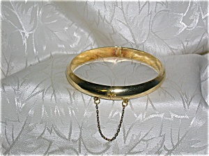 Plain Gold Over Sterling Silver Bangle Bracel