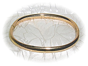 Antique Gold Plate Bangle Bracelet (Image1)
