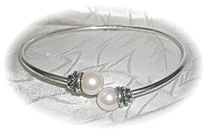 Sterling Silver & Pearl Bracelet (Image1)
