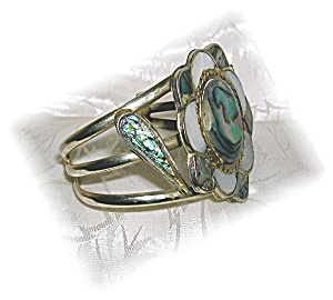 Silver And Abalone Mexico Bracelet