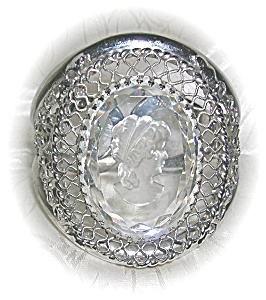 Cameo Whiting Davis Glass Silver Bracelet (Image1)