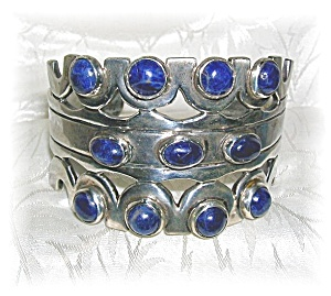 Taxco Mexico  Sterling Silver Lapis Eagle 3 SMM (Image1)