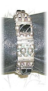 Sterling Silver & Black Onyx Bracelet Mexico (Image1)
