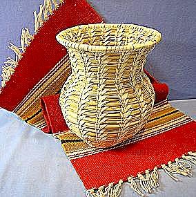 Papago  Basket Tohono O'odham Native American Basket (Image1)