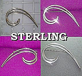 Sterling Silver Large 3 Inch  Brooch (Image1)