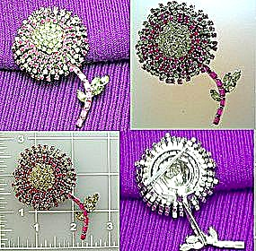 Vintage crystal brooch pin (Image1)