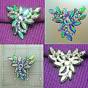Vintage aurora borealalis brooch pin (Image1)