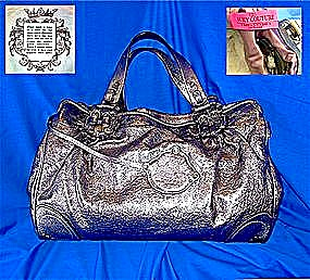 Juicy Couture Gold Pigskin Leather Lady Sarah Handbag