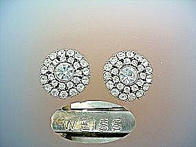 WEISS crystal clip earrings (Image1)