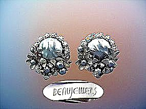 BEAU JEWELS clip earrings faux pearls, rhinestones (Image1)