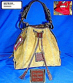 Dooney Bourke Slouch Bag Suede Leather Drawstring  (Image1)
