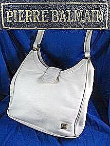 BALMAIN ladies handbag, purse in White leather (Image1)
