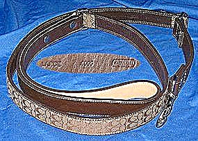 Coach Leather Fabric Signature Dog Leash