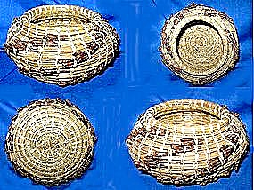 Contemporary Native American pine needle basket (Image1)