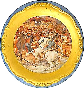 Porcelain Roman scenic plate Winterling Bavaria w/ gold (Image1)