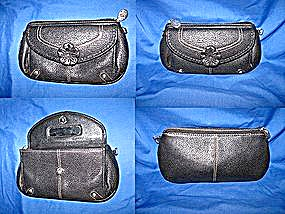 Brighton Black Leather Bag Purse Wallet
