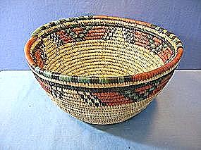 Basket Hausa Nigerian Woven Basket (Image1)