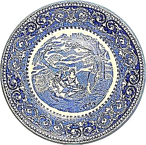 Blue Rowland &. Marsellus Blue Transfer 8 In. Bowl Staf (Image1)