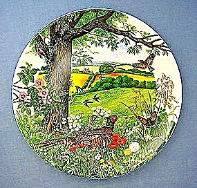 Wedgwood Collector Plate Meadows and Wheatfields 1987 (Image1)