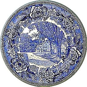 Flow Blue Wedgwood  Wayside Inn Massachussetts (Image1)