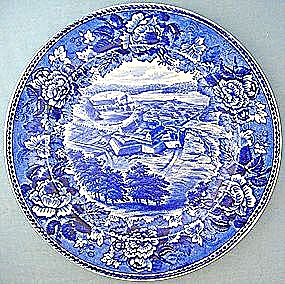 Wedgwood Flow Blue Plate- Fort Ticonderoga 10 in. (Image1)