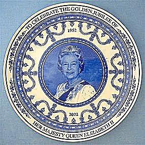 Wedgwood Plate, Queen Elizabeth's Golden Jubilee (Image1)