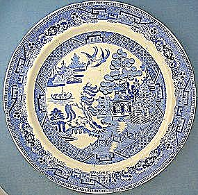 Staffordshire English Ironstone Willow Dinner Plates 6 (Image1)