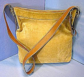 Coach Handbag Tan Suede Leather (Image1)