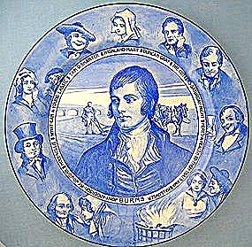Royal Doulton Commemorative, Robert Burns, Blue & White (Image1)