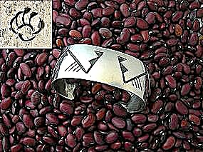 Philbert Posyesva Sterling Silver American Indian Cuff