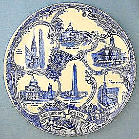 Boston Souvenir  Old English Staffordshire Plate (Image1)