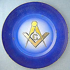 Masonic Blue Plate John Maddock England (Image1)
