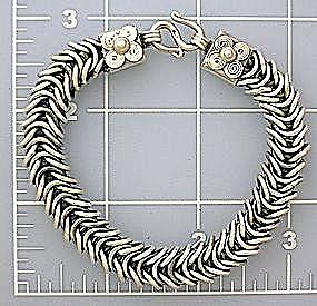 Sterling Silver Chunky Bracelet 8 Inch (Image1)
