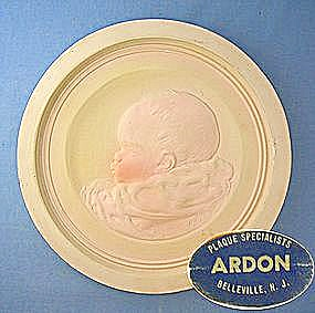 Pottery Baby Plaque - Ardon Plaque Specialist