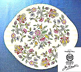 Minton Handled Cake Plate Haddon Hall Pattern