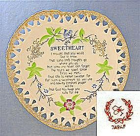Japan  Sweetheart China plate (Image1)