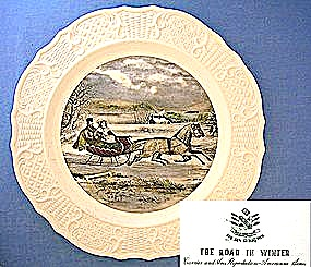 Harker Potter Co Ohio collectors plate - WINTER (Image1)
