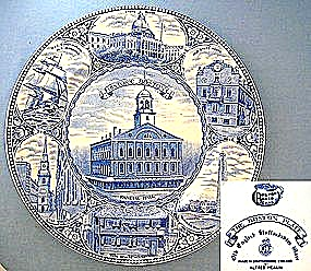 Staffordshire Historic Boston. Faneuil Hall Collector P
