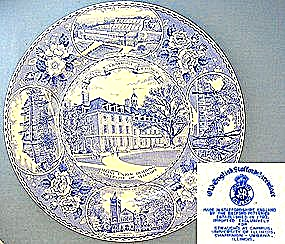 University of Illinois Staffordshire collector's plate (Image1)