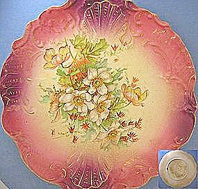 Porcelaine French Antique Lebeau Collector's Plate