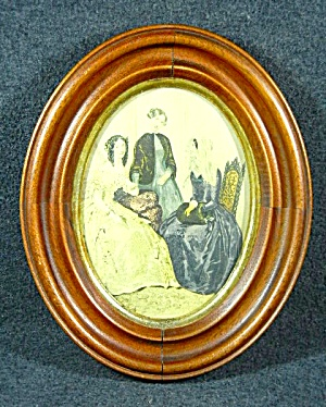 Antique framed French fashion plate (Image1)
