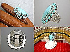 Larimar Gemstones And Sterling Silver Ring