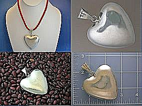Pendant Sterling Silver Taxco Mexico Heart  (Image1)