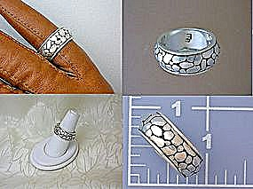 Sterling Silver River Rock Pattern Ring (Image1)